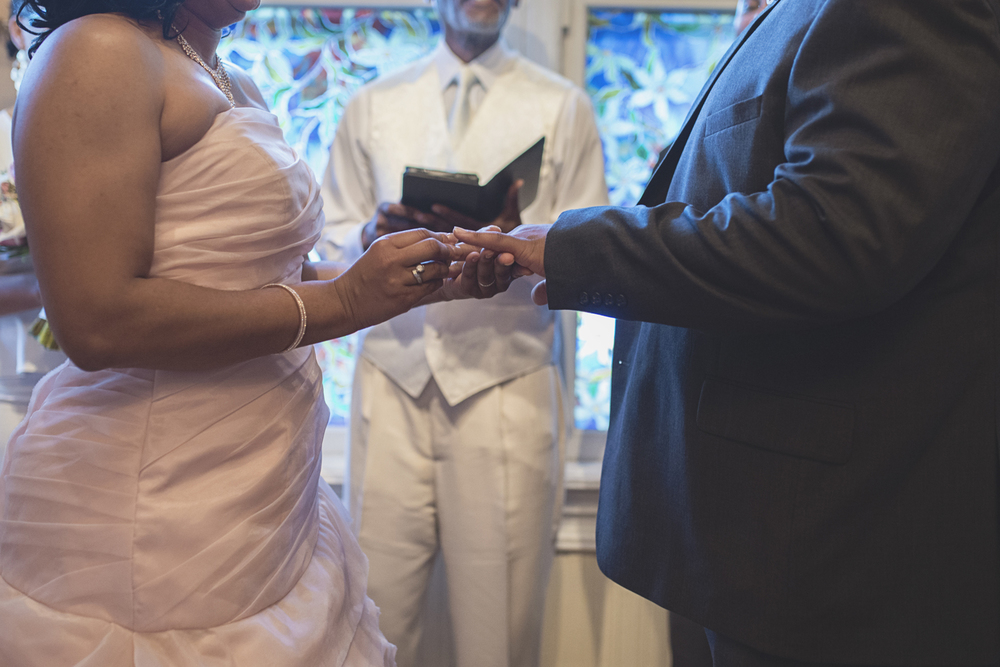 Magnolia House Inn Wedding | Hampton, Virginia Wedding | Wedding ceremony ring exchange