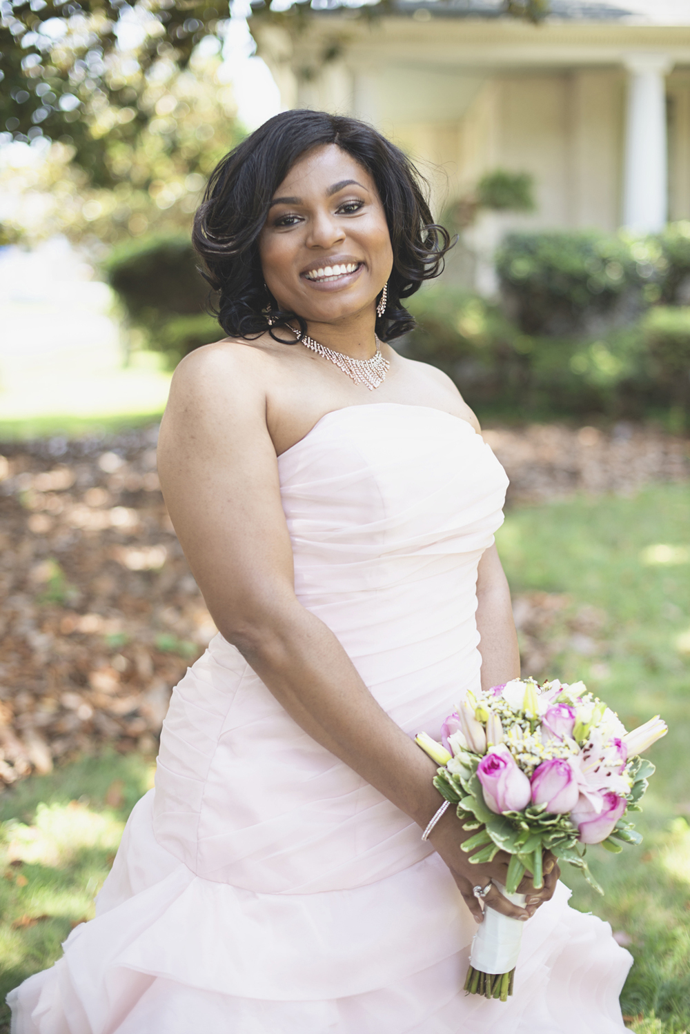 Magnolia House Inn Wedding | Hampton, Virginia Wedding | Bridal portrait | Blush pink wedding gown