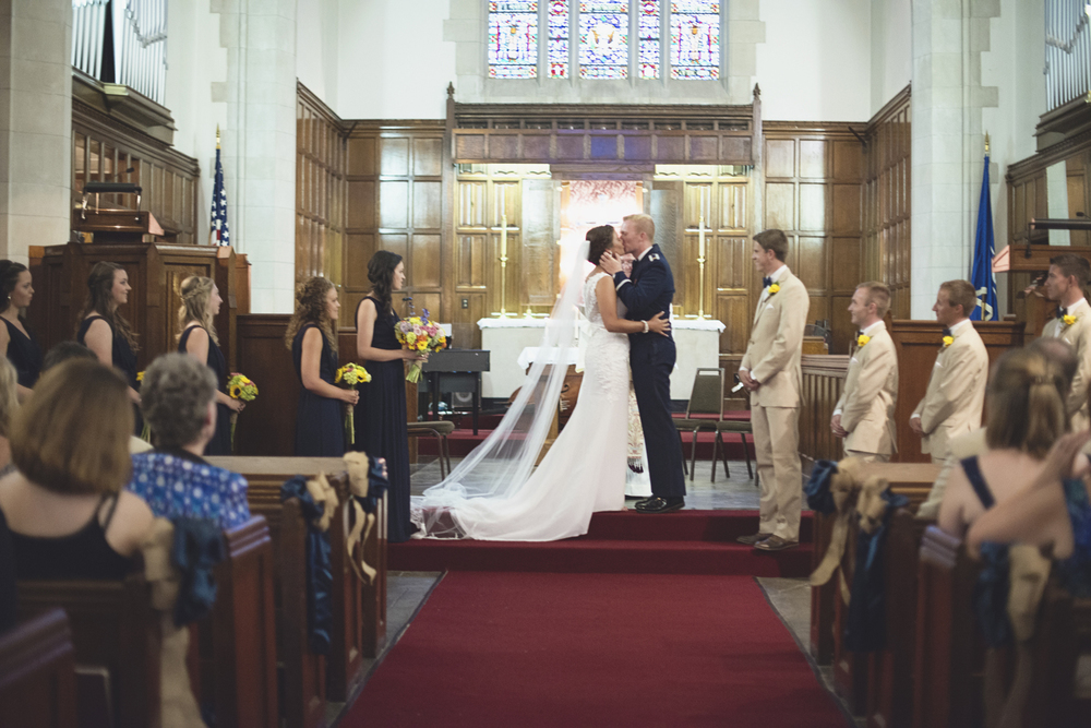 Langley Chapel Air Force Military Wedding | Hampton, Virginia | Military chapel wedding ceremony
