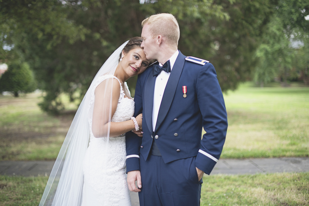 Langley Chapel Air Force Military Wedding | Hampton, Virginia | Bride and groom pictures