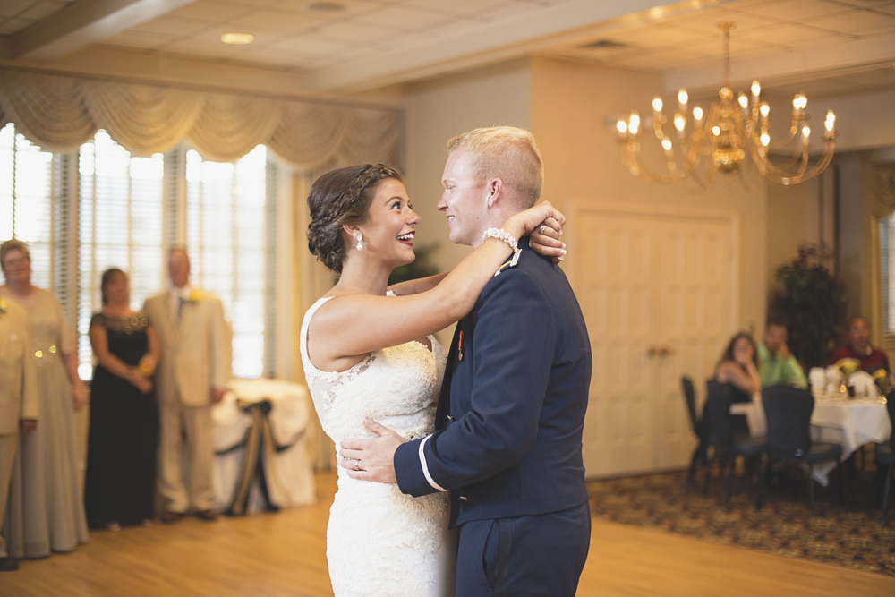 Langley Chapel Air Force Military Wedding | Hampton, Virginia | Bride and groom first dance