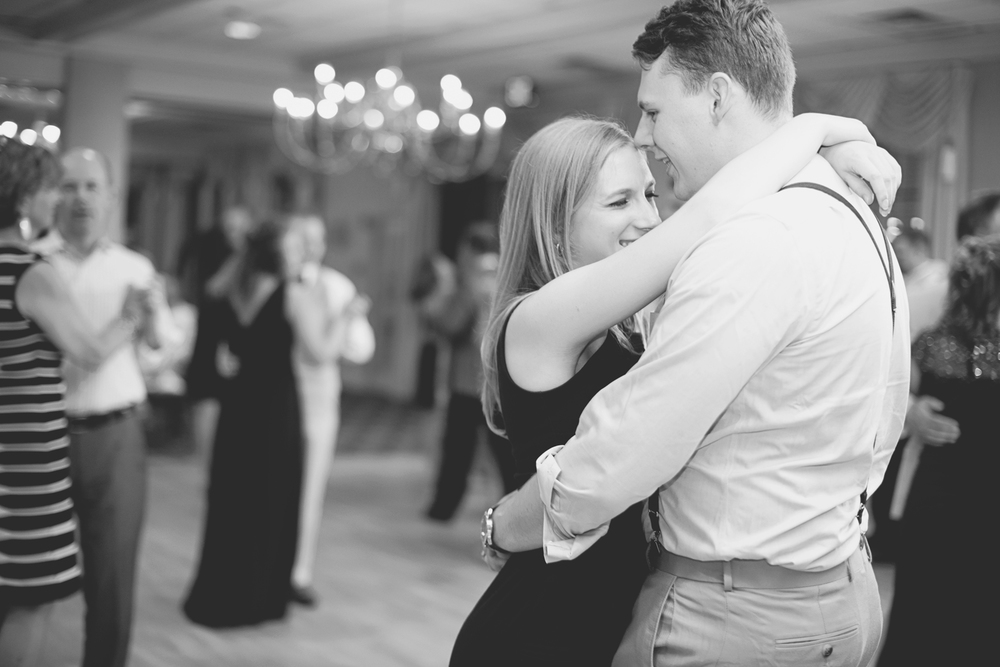 Langley Chapel Air Force Military Wedding | Hampton, Virginia | Wedding reception guests dancing