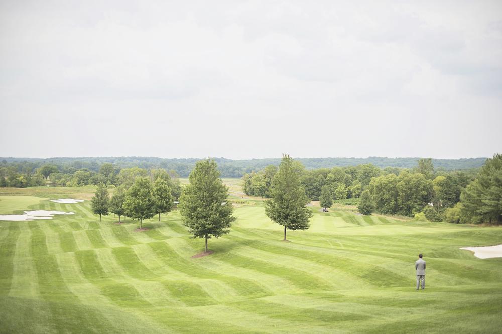 Trump National Golf Club Wedding | Washington, DC Wedding | Gorgeous golf club green first look