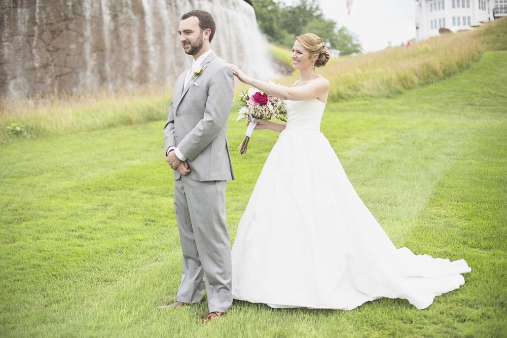 Trump National Golf Club Wedding | Washington, DC Wedding | Bride & groom first look portraits
