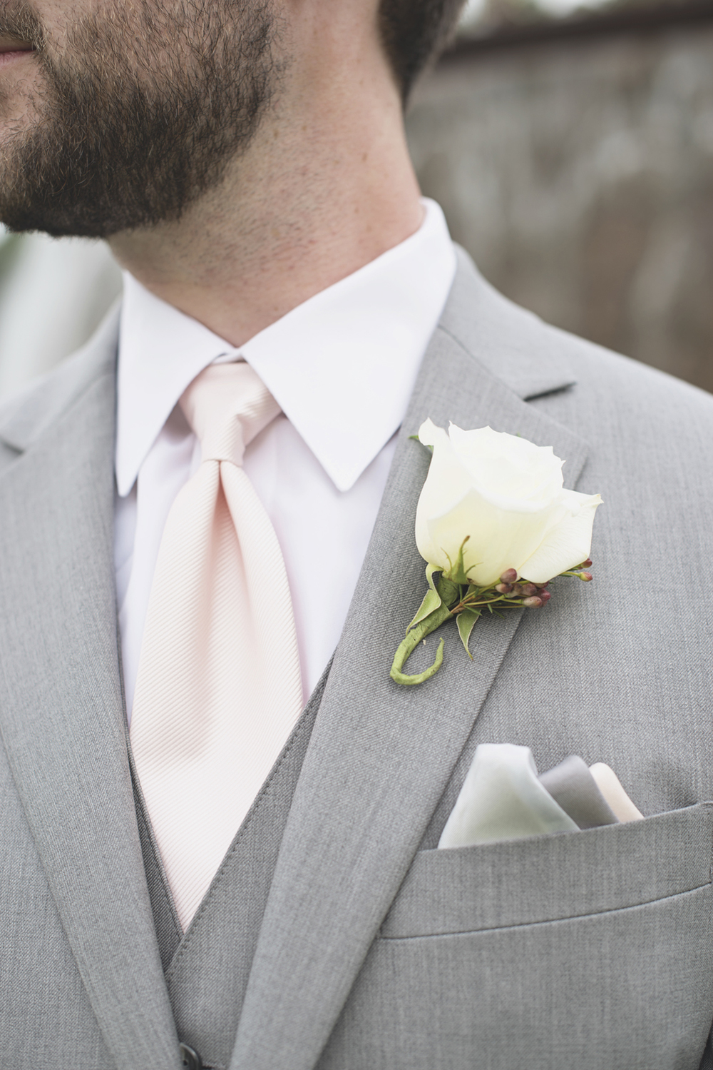 Trump National Golf Club Wedding | Washington, DC Wedding | White rose boutonniere