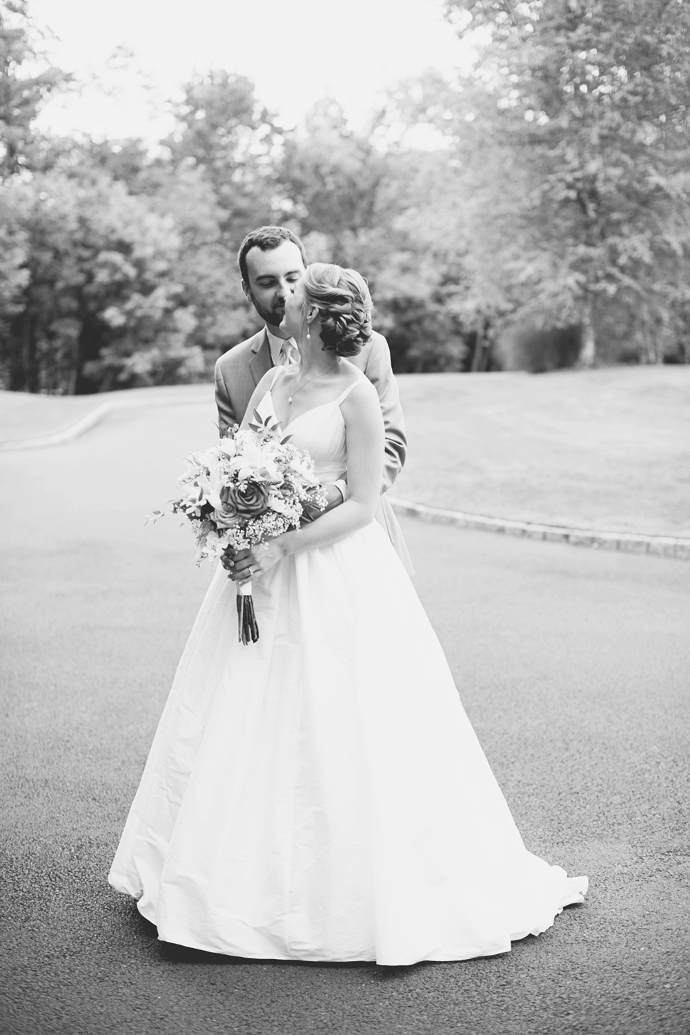 Trump National Golf Club Wedding | Washington, DC Wedding | Bride and groom portraits | Black and white