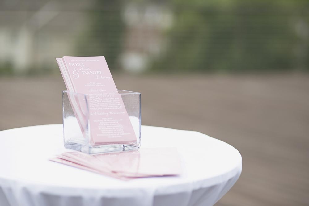 Trump National Golf Club Wedding | Washington, DC Wedding | Wedding ceremony | Blush pink wedding porgrams