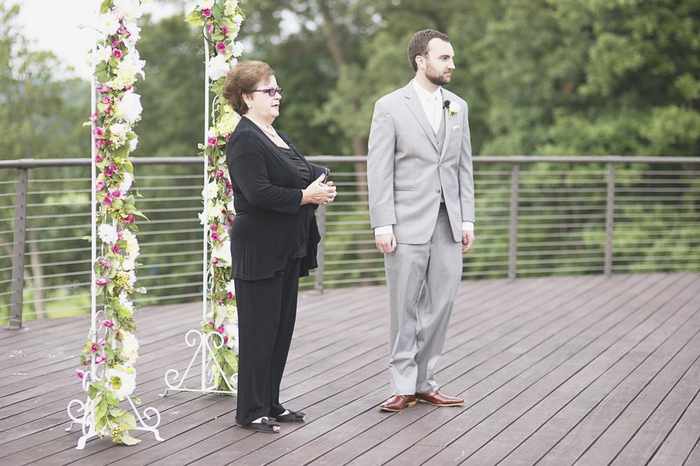 Trump National Golf Club Wedding | Washington, DC Wedding | Wedding ceremony | Groom waits for his bride