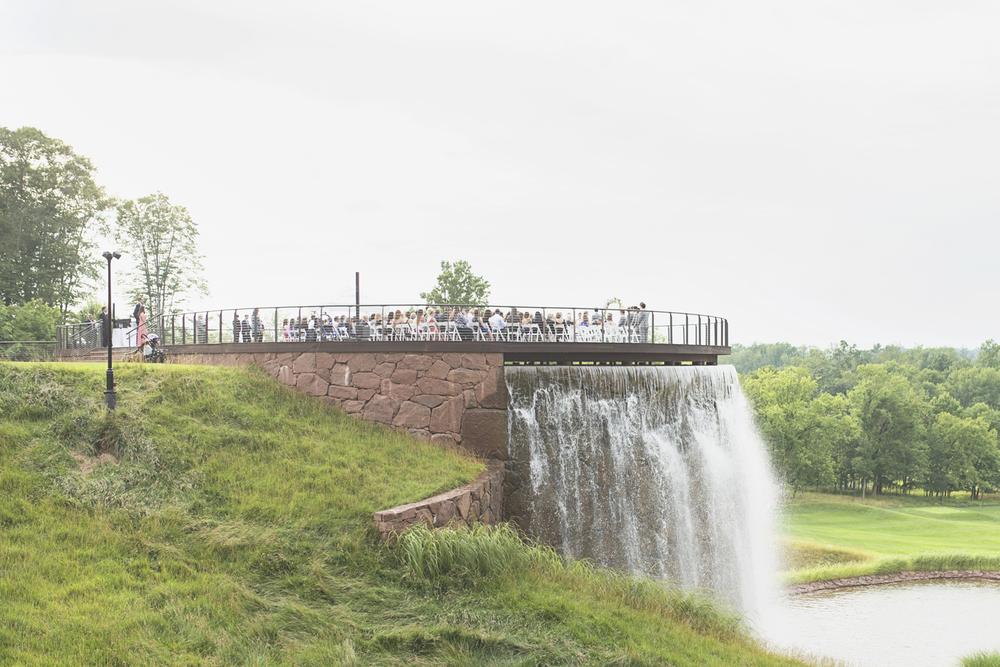 Trump National Golf Club Wedding | Washington, DC Wedding | Wedding ceremony | Wedding ceremony on a man-made waterfall