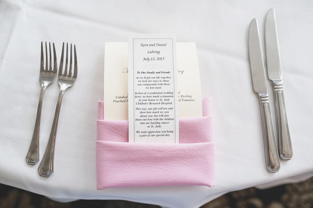 Trump National Golf Club Wedding | Washington, DC Wedding | Wedding reception | Reception place cards