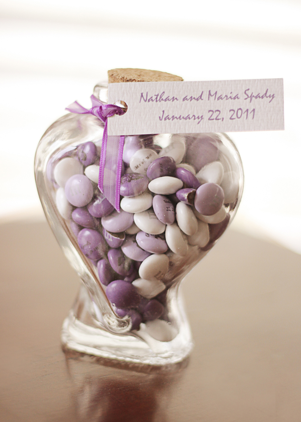 Our Wedding Day | White and Purple Wedding M&Ms