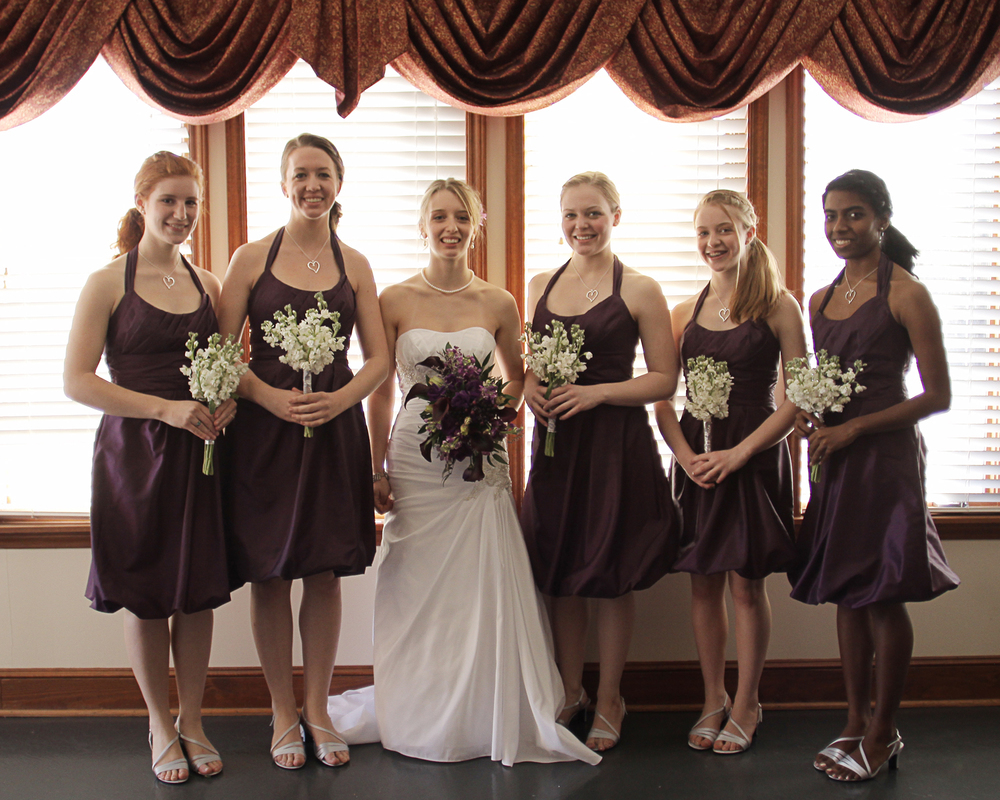 Our Wedding Day | Purple bridesmaid dresses