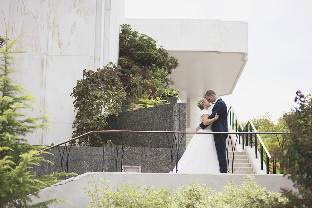 LDS Temple Mormon Wedding | Washington, DC, Wedding | Bride & groom portraits
