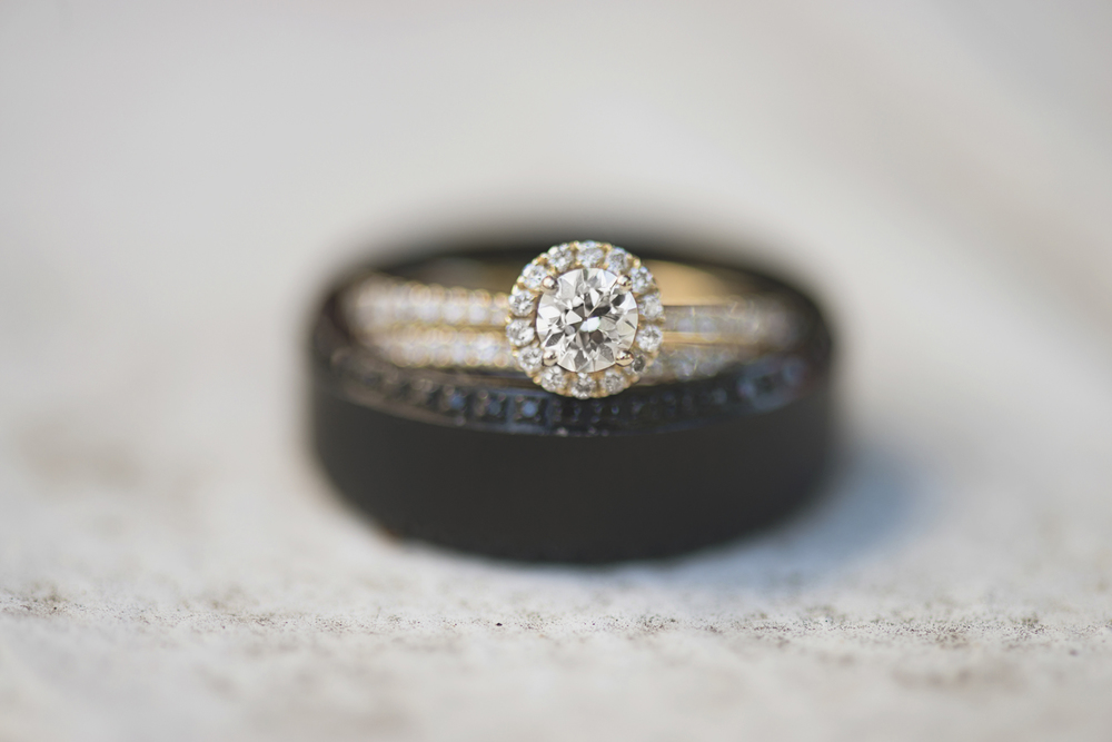Confederate Hills Recreation Center Wedding | Richmond, Virginia Wedding | Rose gold & onyx wedding bands