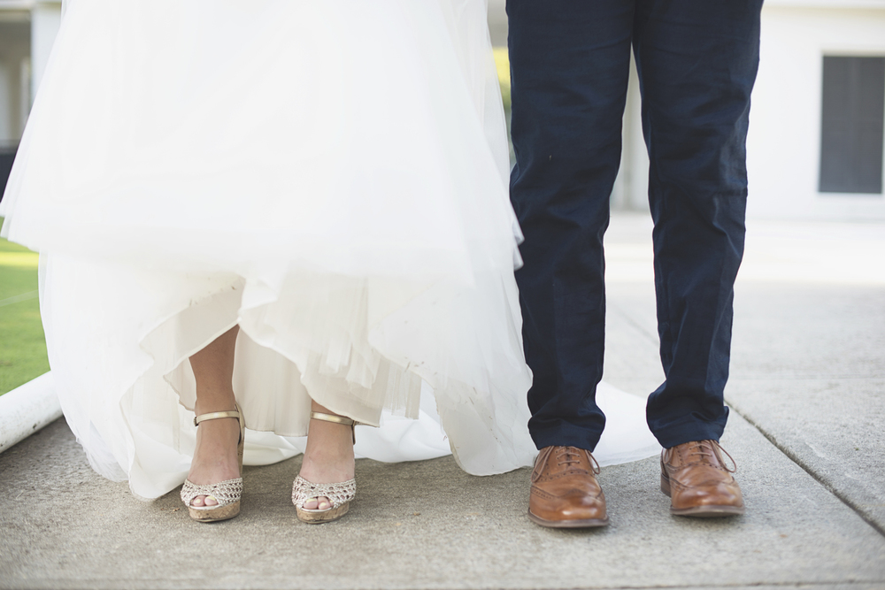 Confederate Hills Recreation Center Wedding | Richmond, Virginia Wedding | Bride and groom shoe shot
