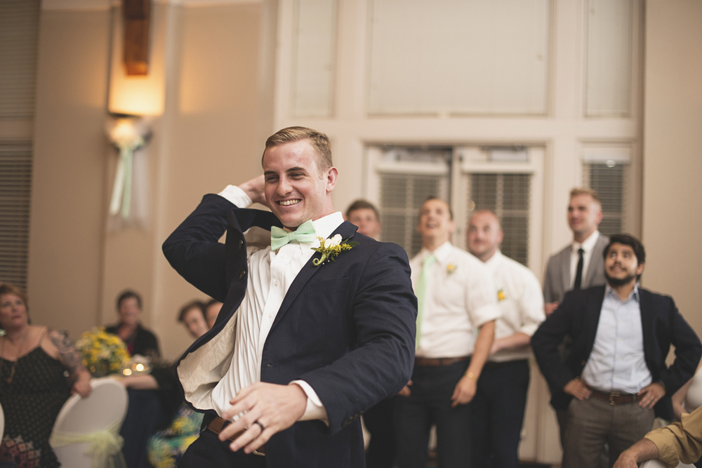 Confederate Hills Recreation Center Wedding | Richmond, Virginia Wedding | Garter toss