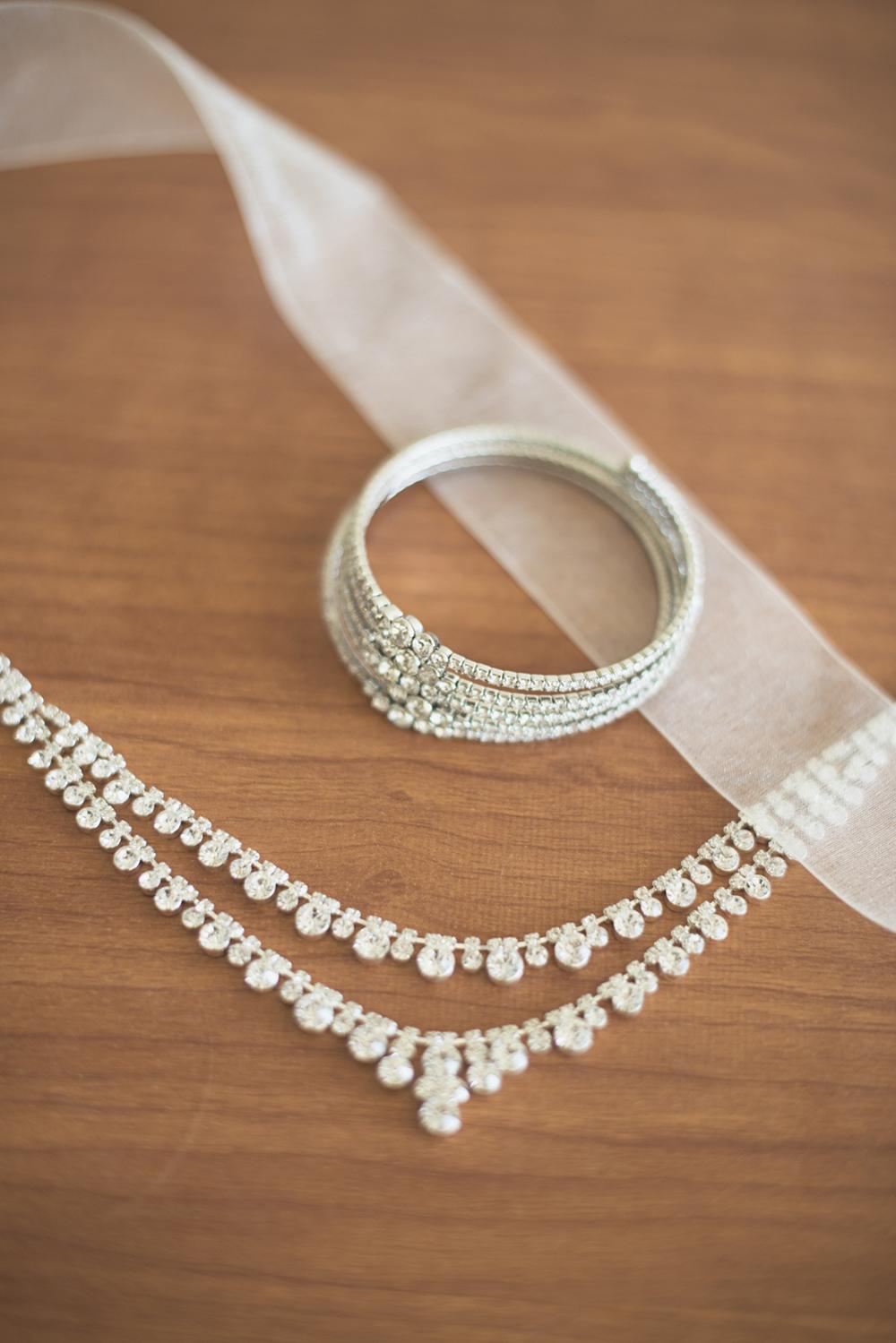 Virginia Beach Oceanfront Wedding | Bridal jewelry details