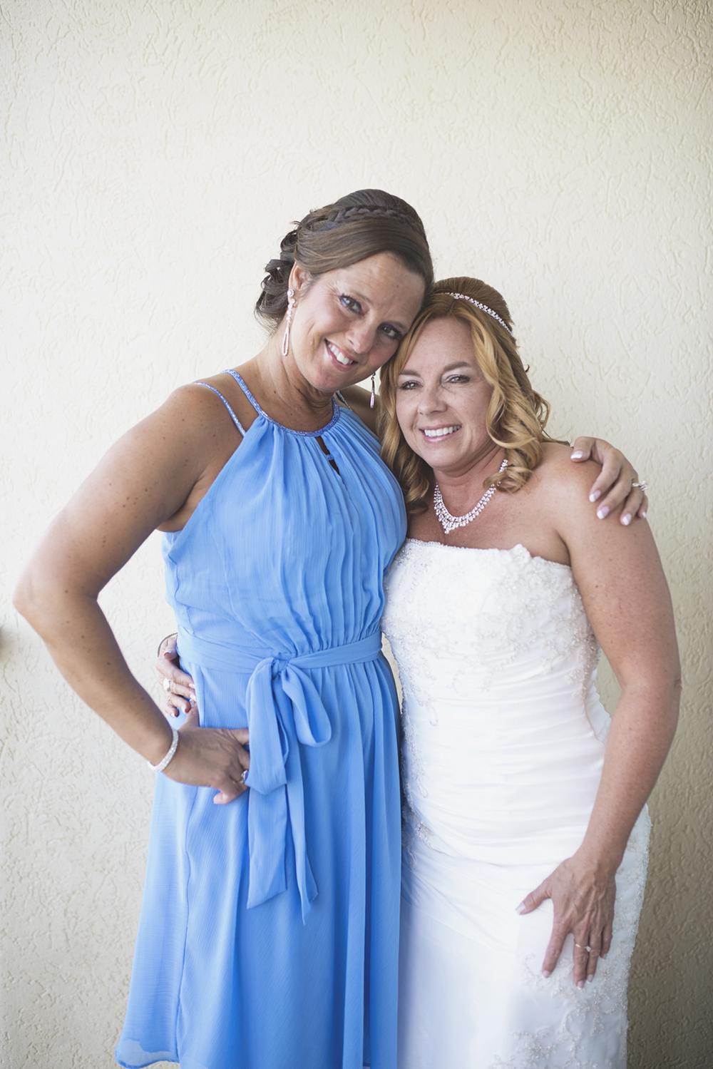 Virginia Beach Oceanfront Wedding | Blue bridesmaid dress