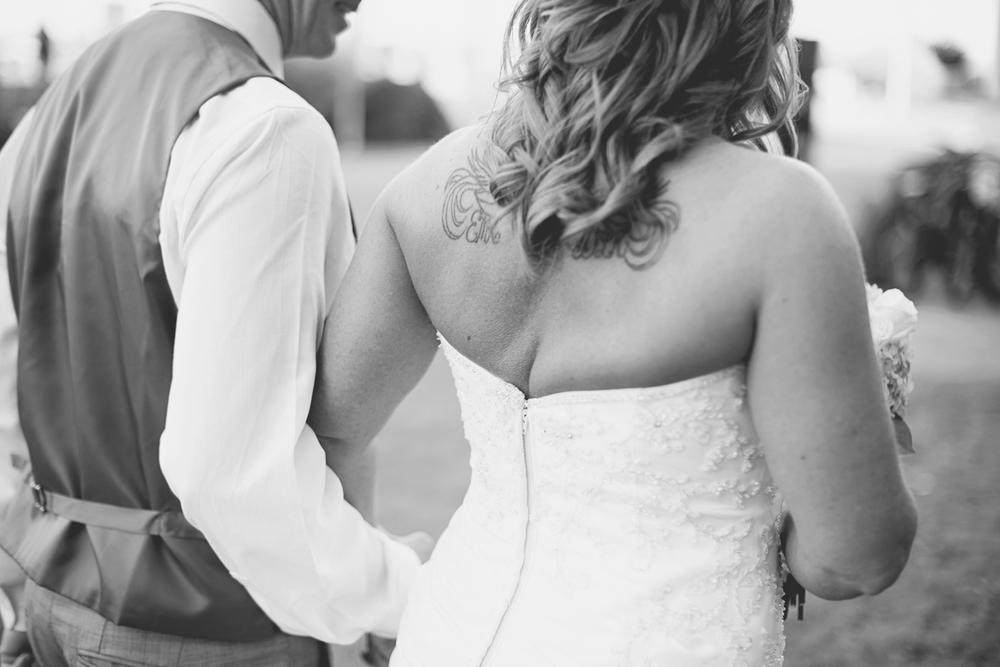 Virginia Beach Oceanfront Wedding | Bride and groom recessional