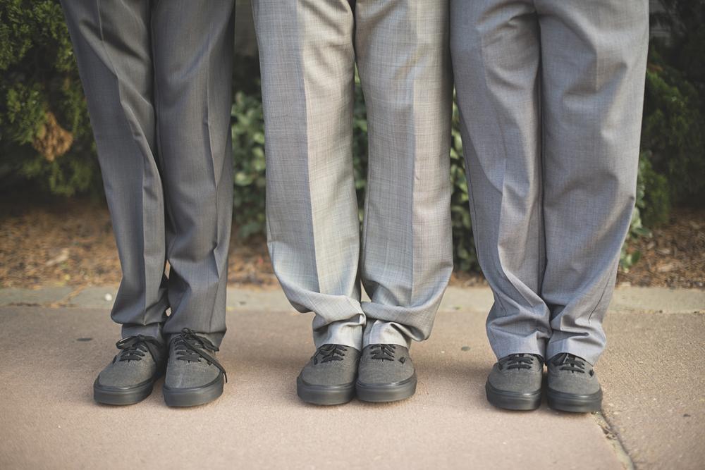 Virginia Beach Oceanfront Wedding | Chuck taylor shoe shot