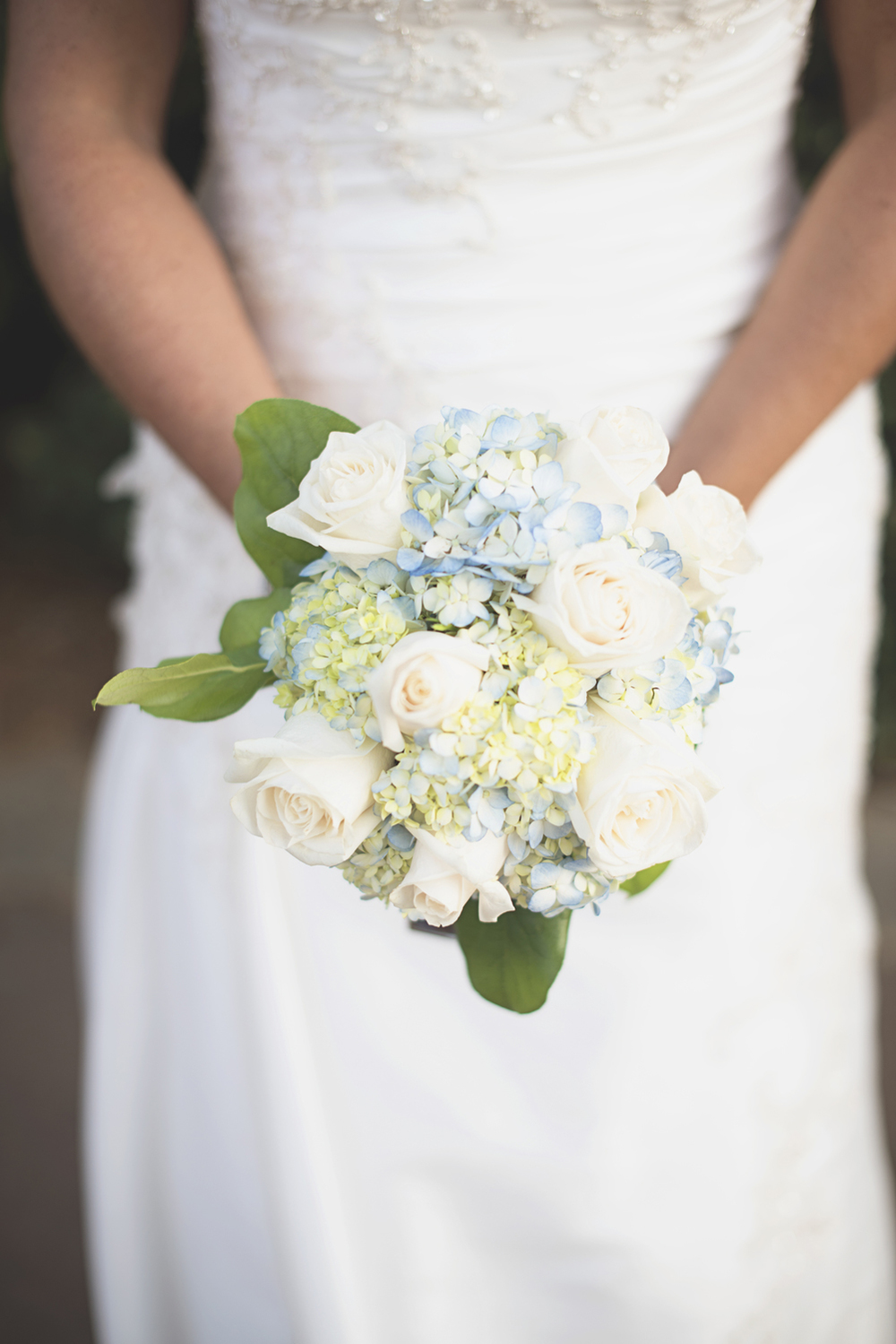 Virginia Beach Oceanfront Wedding | Blue and white bridal bouquet