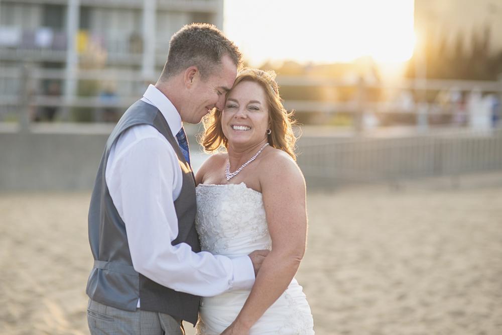 Virginia Beach Oceanfront Wedding | Bride and groom portraits