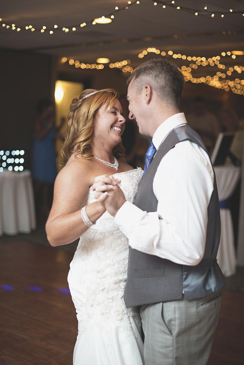 Virginia Beach Oceanfront Wedding | Bride and groom first dance
