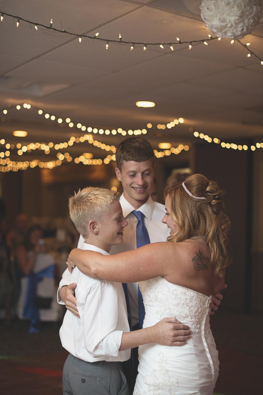 Virginia Beach Oceanfront Wedding | Wedding reception guests dancing