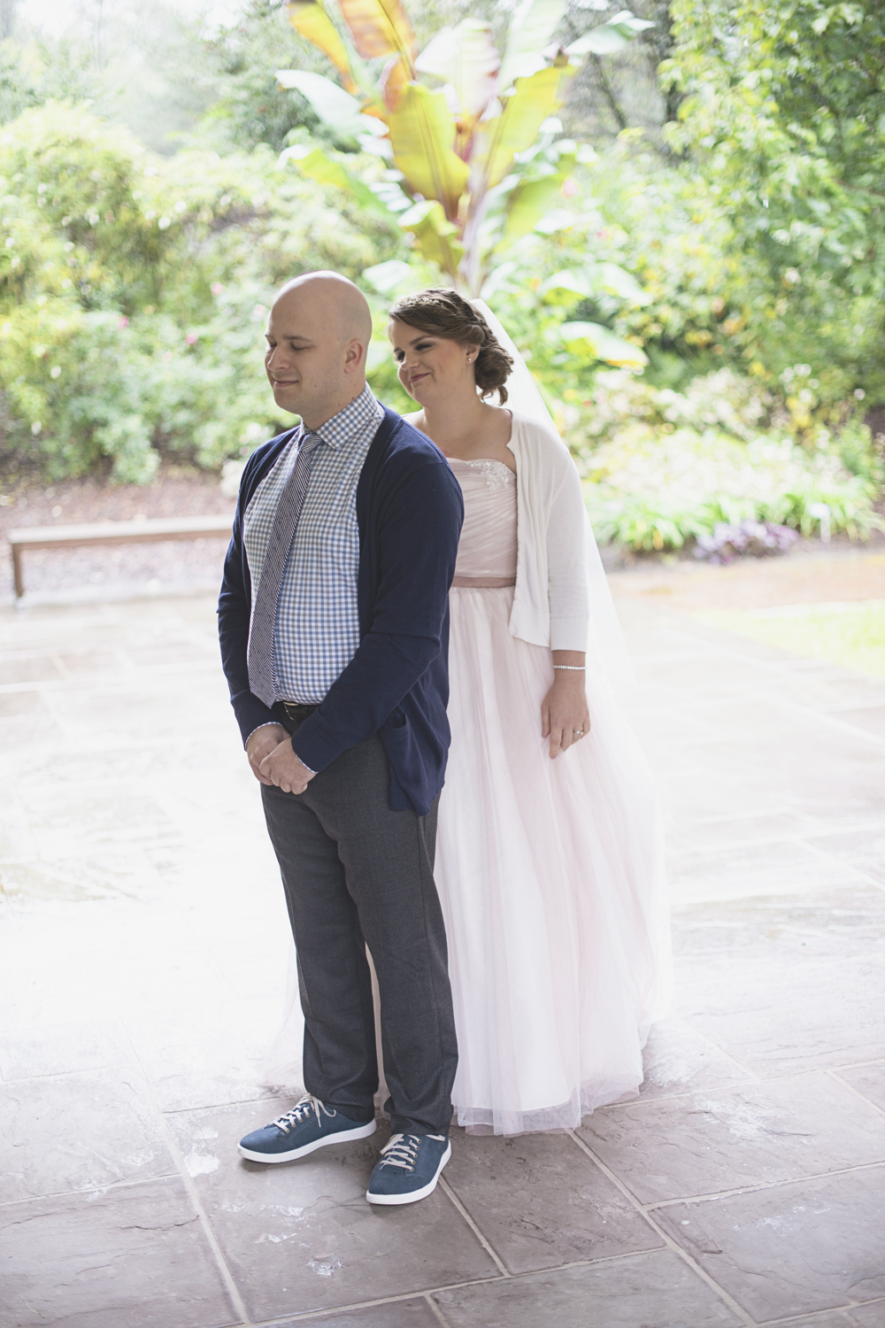 Lewis Ginter Botanic Garden Wedding | Richmond, Virginia, Wedding | Bride and groom first look