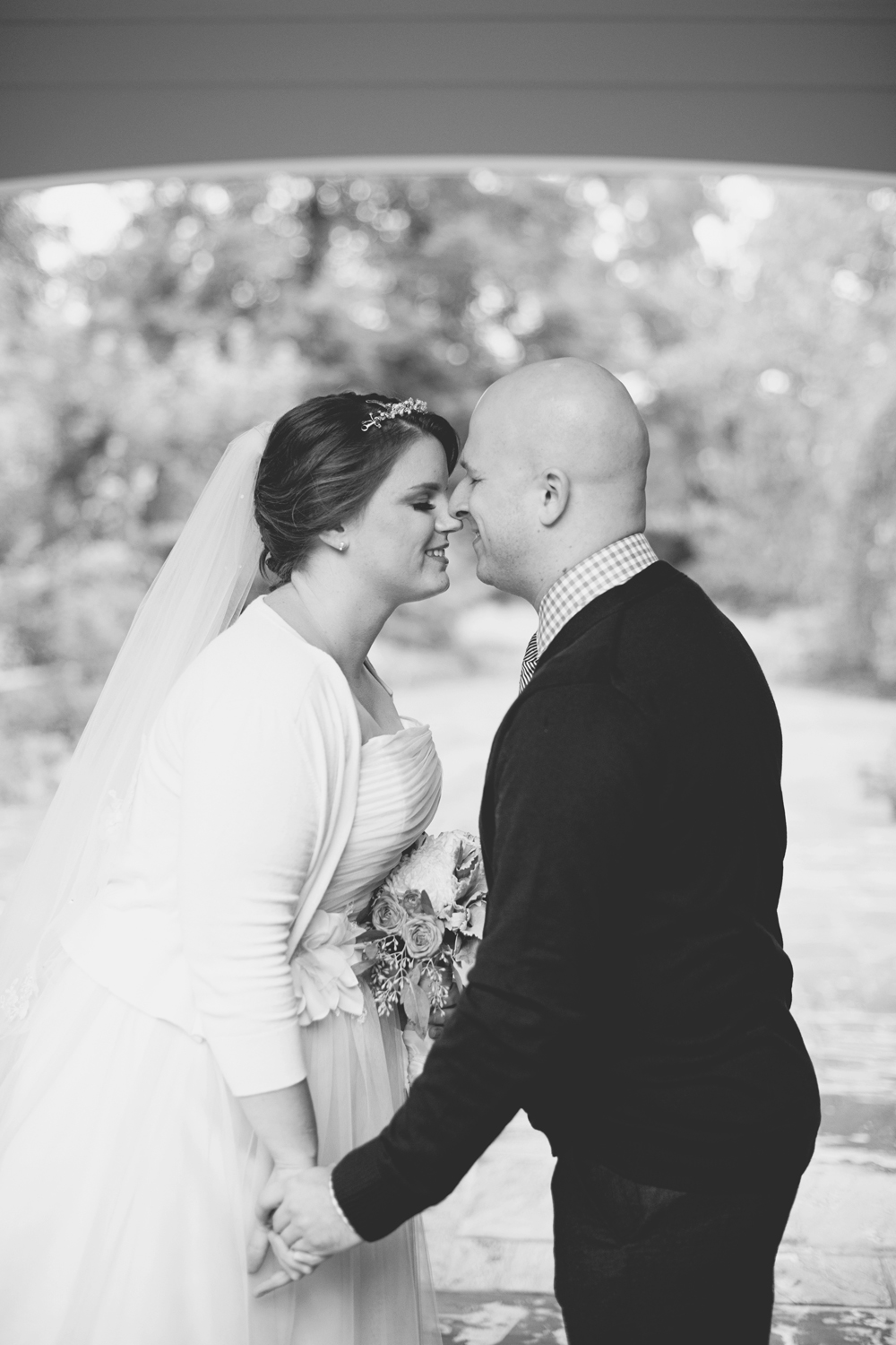 Lewis Ginter Botanic Garden Wedding | Richmond, Virginia, Wedding | Bride and groom portraits