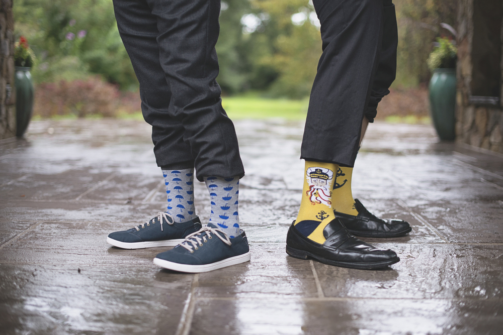 Lewis Ginter Botanic Garden Wedding | Richmond, Virginia, Wedding | Fun wedding day socks