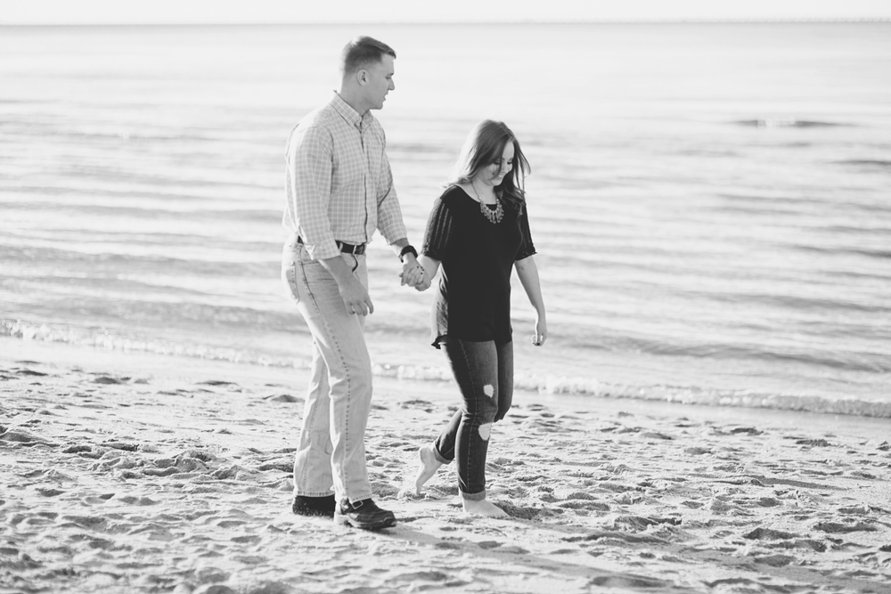 First Landing State Park Engagement Session | Virginia Beach Engagement | Maroon and blue engagement session