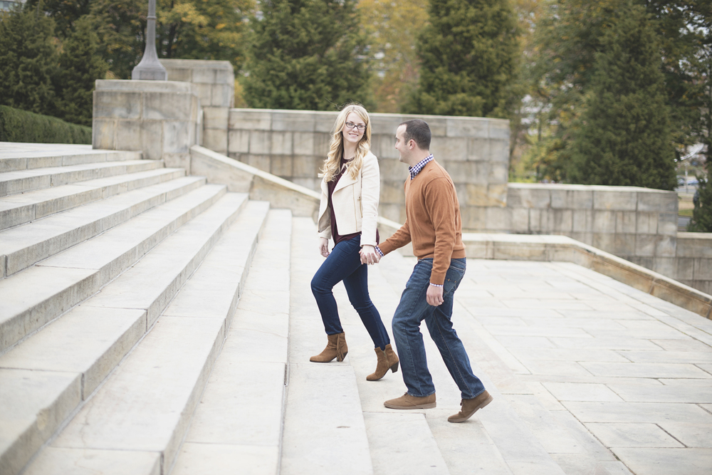 Philadelphia Art Museum Fall Engagement Session | Rocky Balboa Steps