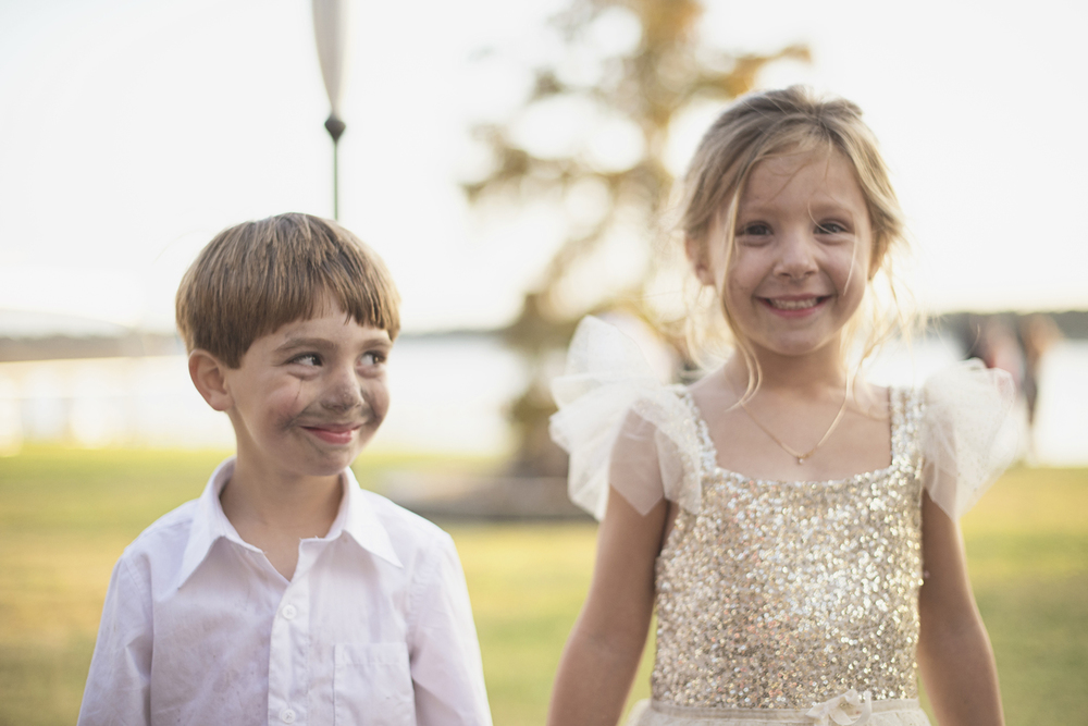 Charles City Wedding | Williamsburg Wedding Photographer | Flower girl and ring bearer