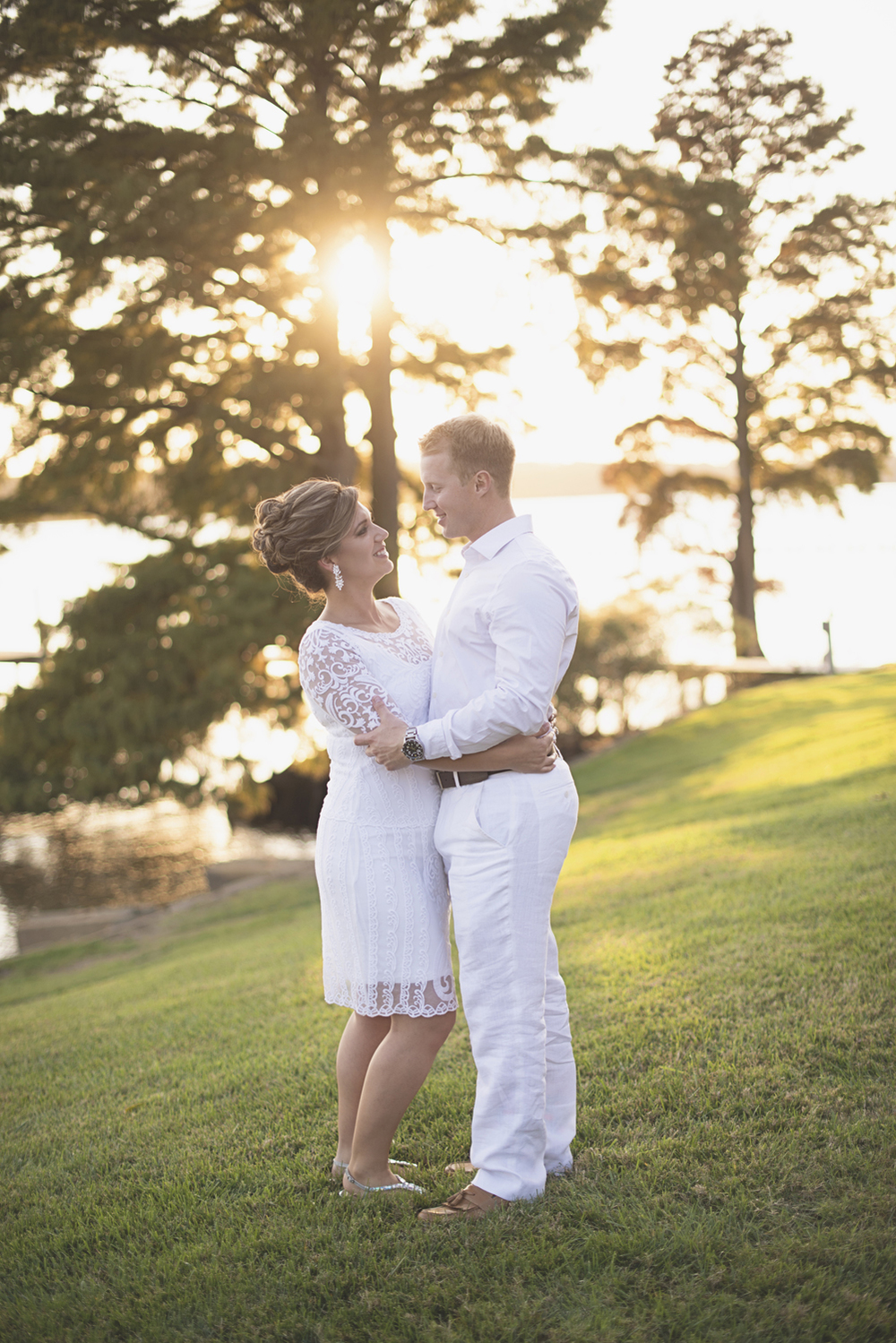 Charles City Wedding | Williamsburg Wedding Photographer | Bride and groom sunset portraits