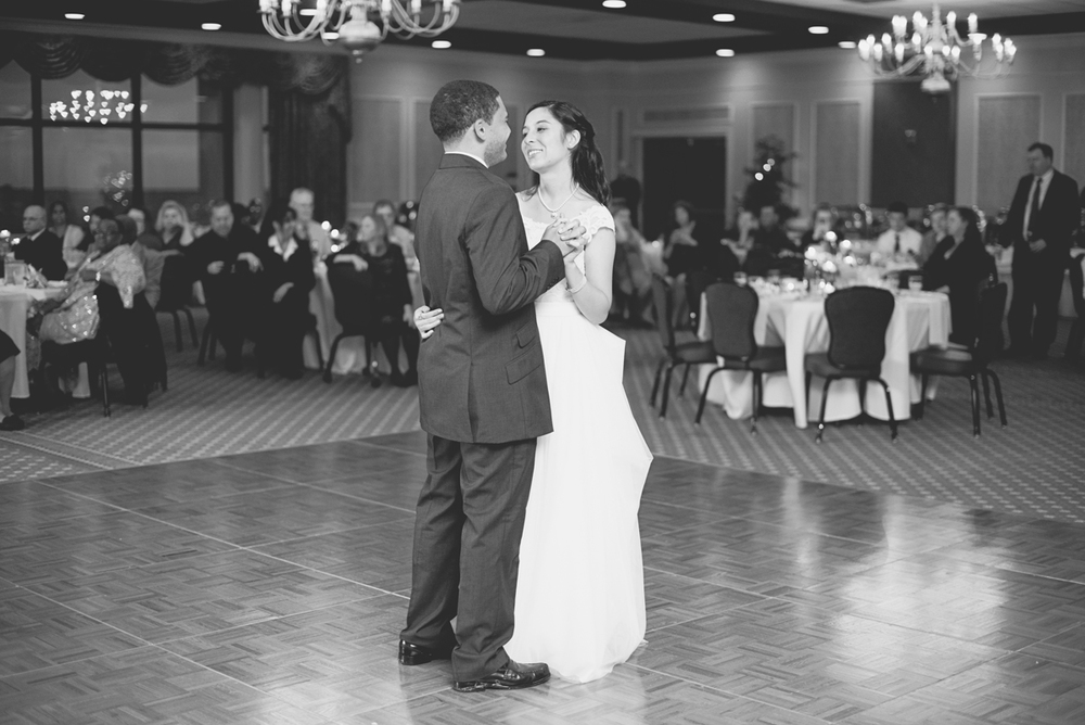 Hampton, Virginia Fall Wedding | Wedding reception first dance