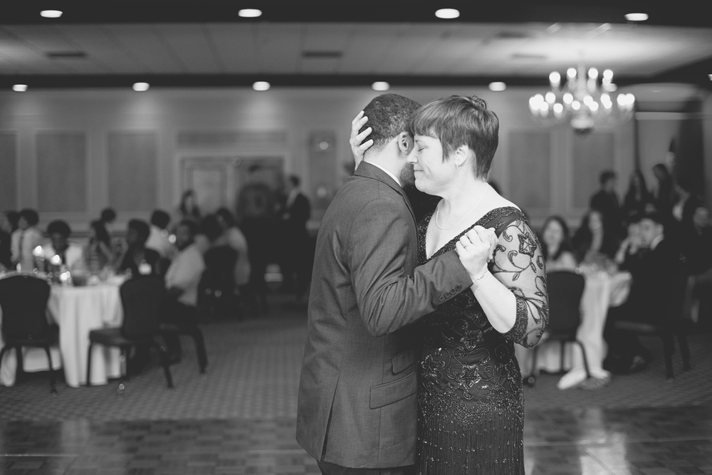 Hampton, Virginia Fall Wedding | Wedding reception mother son dance