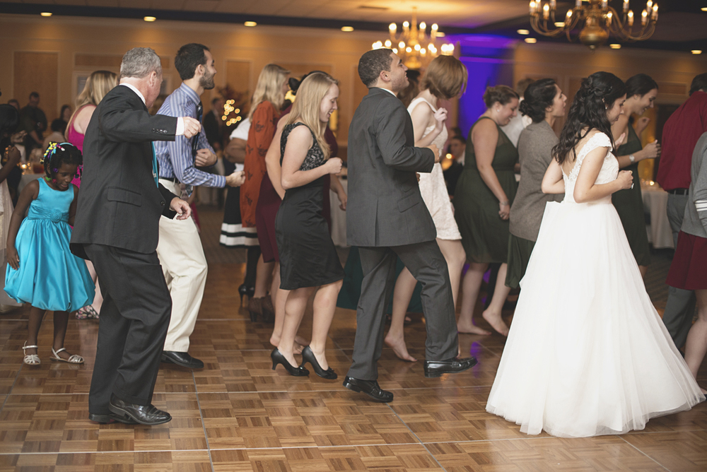 Hampton, Virginia Fall Wedding | Wedding reception dancing