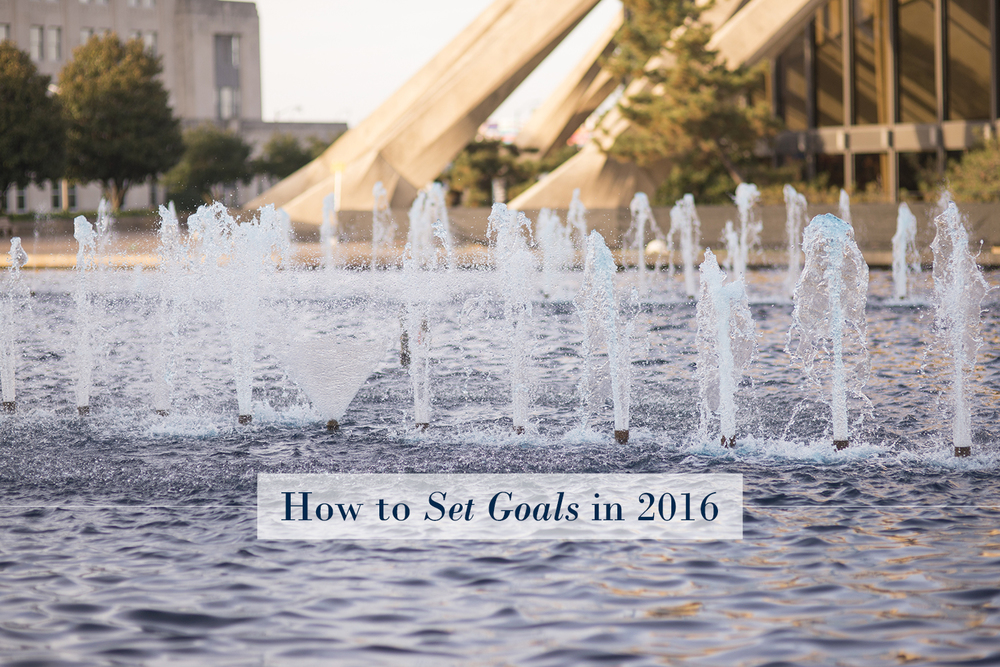How to Set Goals for 2016