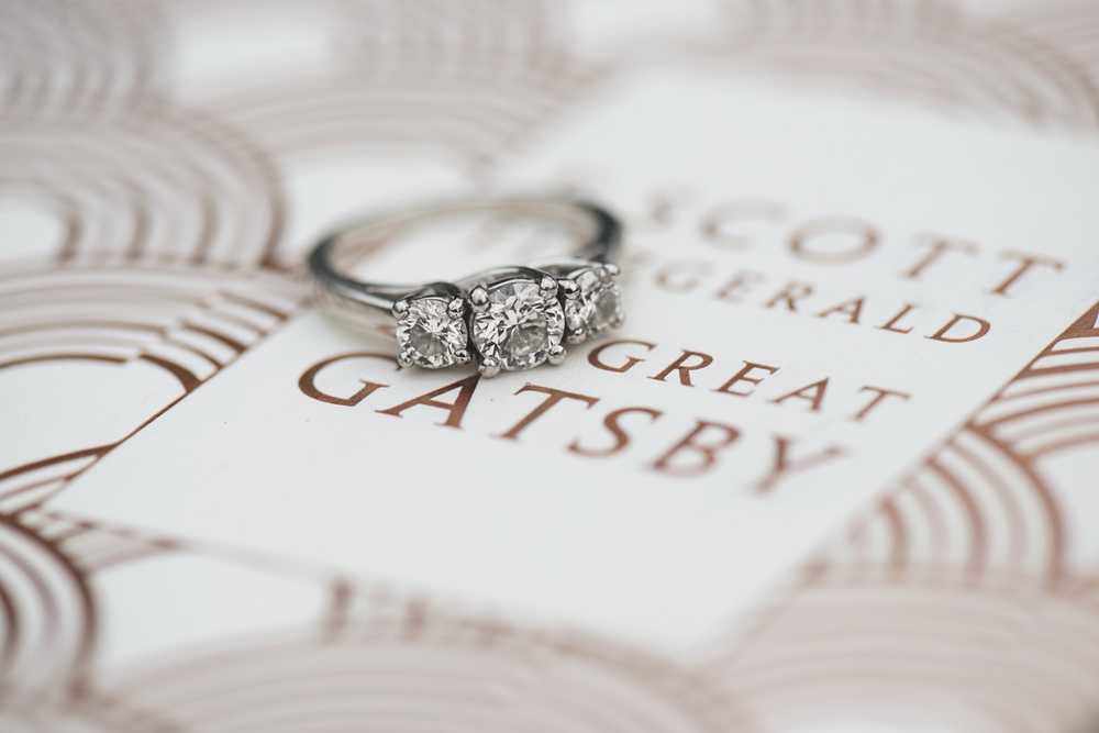 The Great Gatsby book literary ring shot