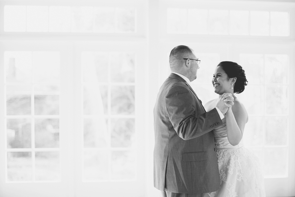 Blush, mint, and ivory spring wedding | Bride and groom first dance