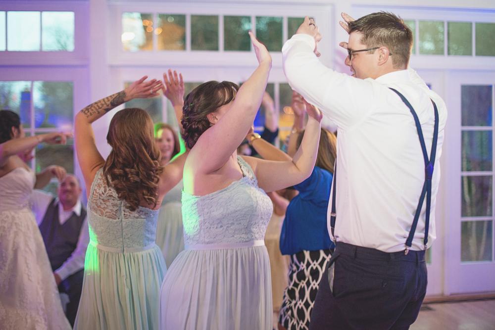 Blush, mint, and ivory spring wedding | Virginia wedding reception dancing