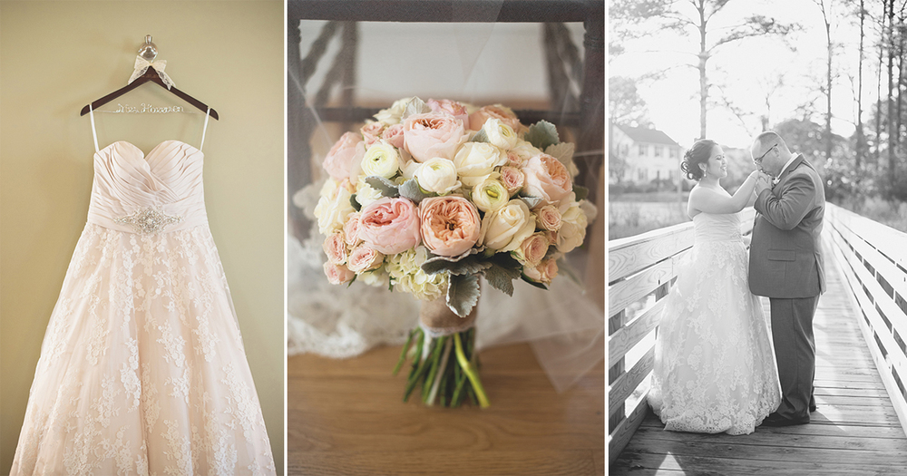 Blush, mint, and ivory spring wedding | Womans Club of Portsmouth Wedding
