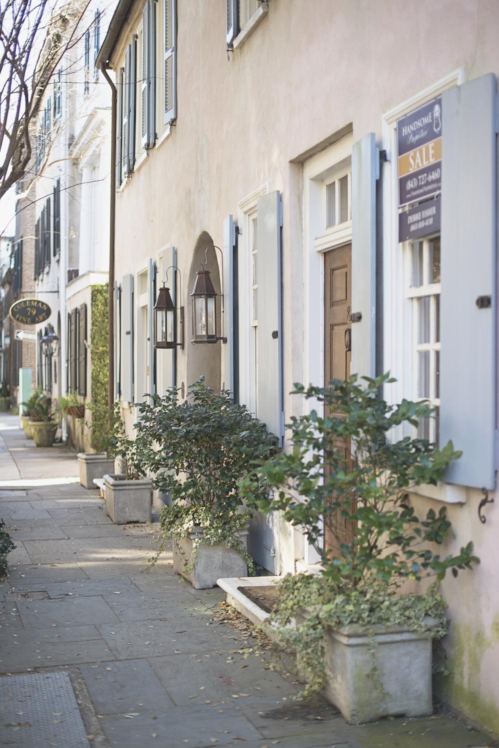 Rainbow Row in Charleston, South Carolina