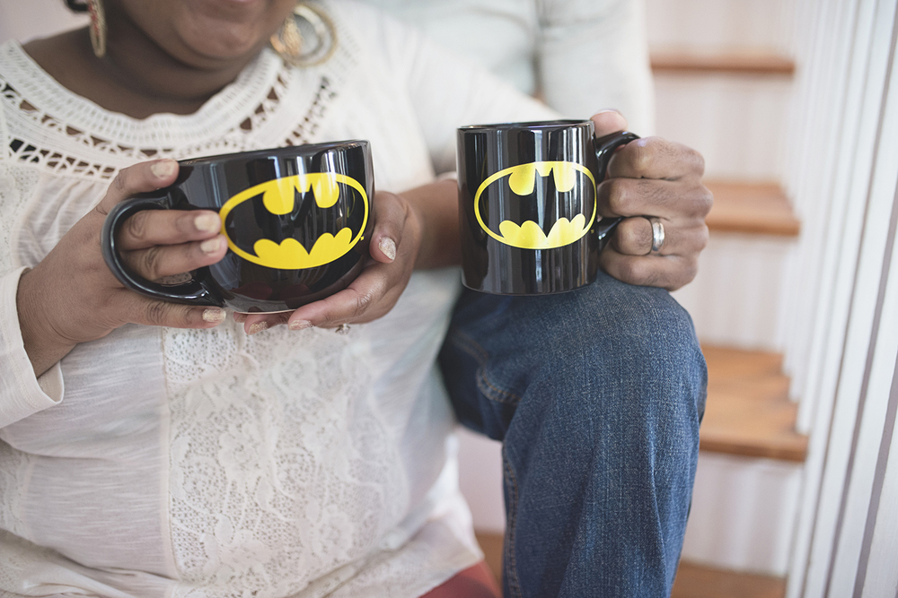 Batman themed engagement pictures