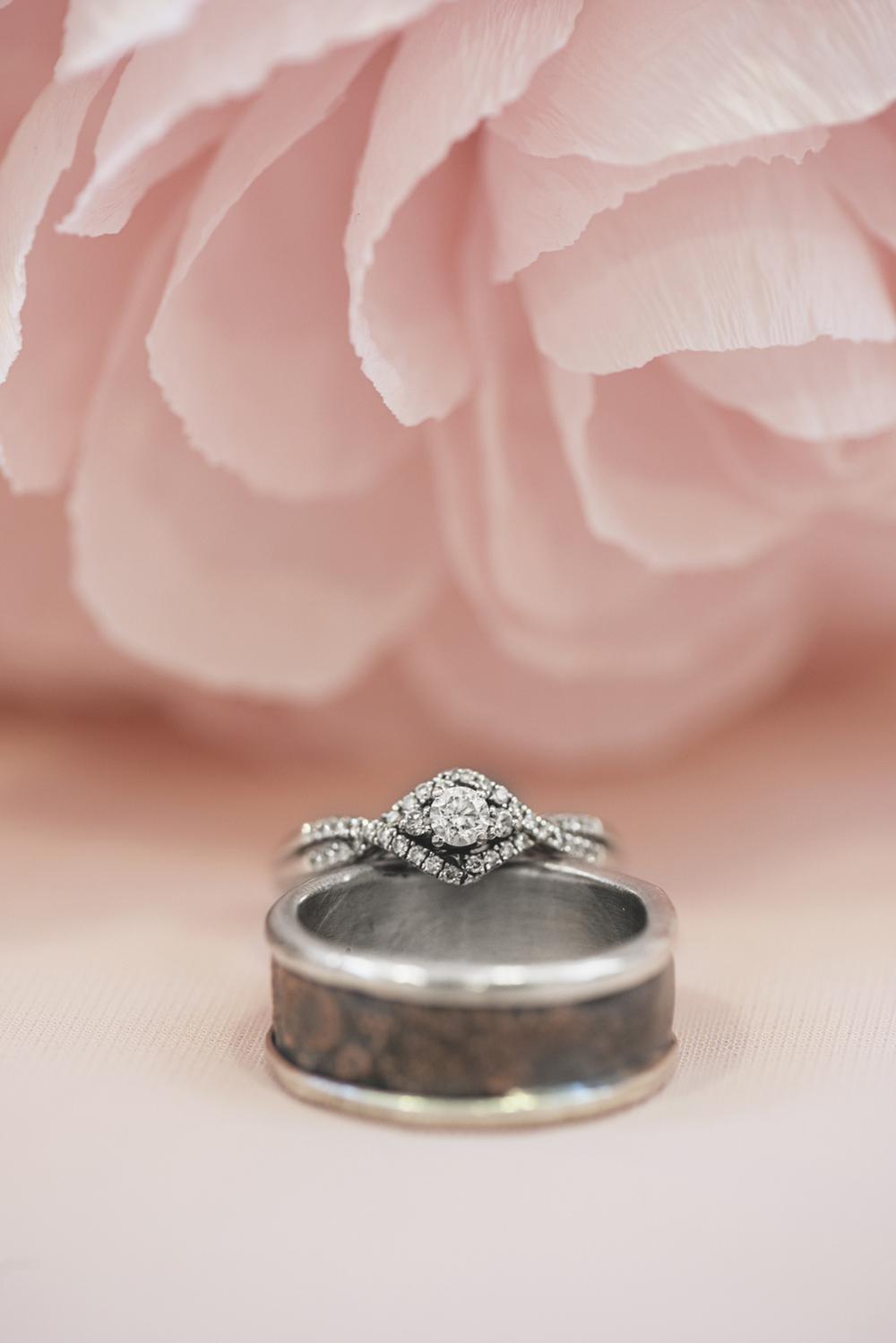 Blush, mint, and gold spring wedding | Yorktown, Virginia wedding | Wedding ring