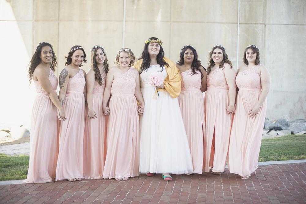 Blush, mint, and gold spring wedding | Yorktown, Virginia wedding | Blush bridesmaid dresses