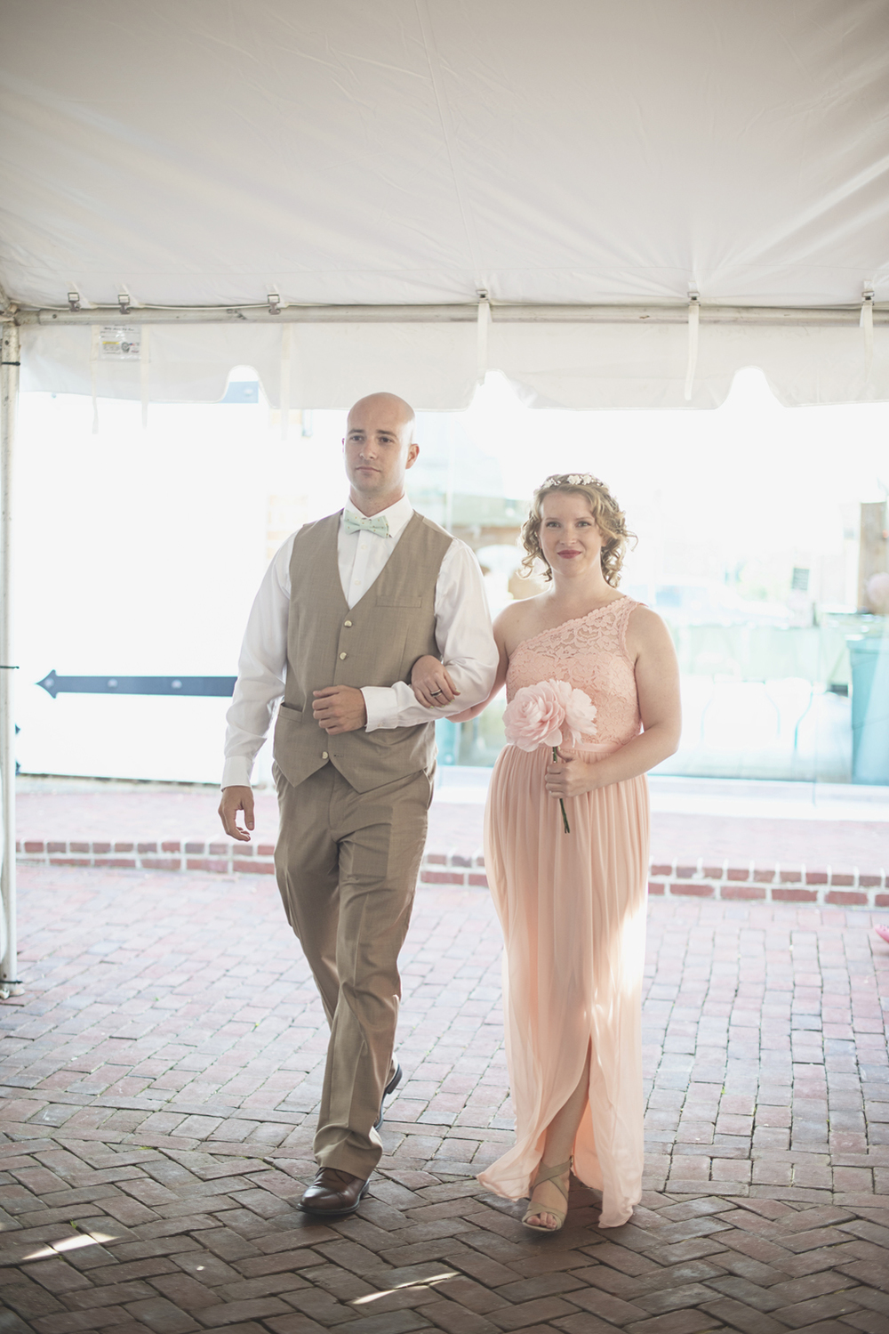 Blush, mint, and gold spring wedding | Yorktown, Virginia wedding | Wedding ceremony