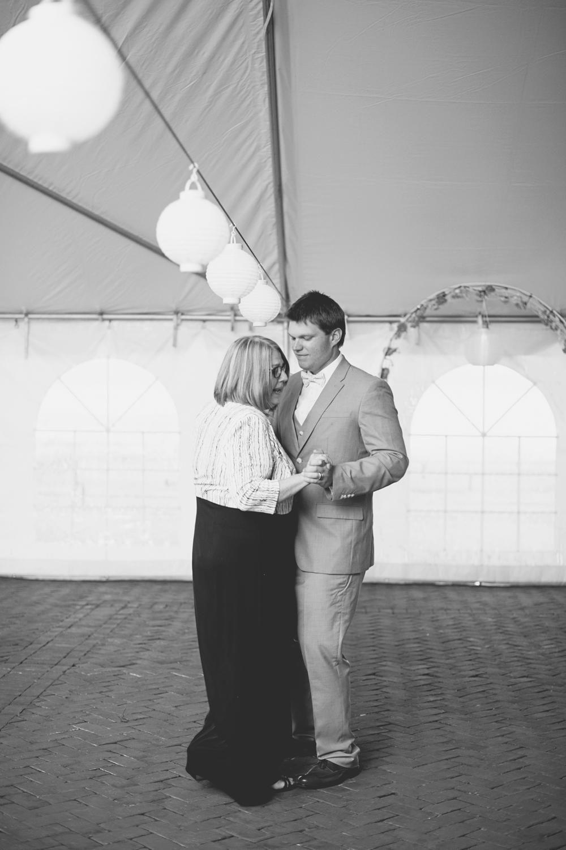 Blush, mint, and gold spring wedding | Yorktown, Virginia wedding | Mother son dance