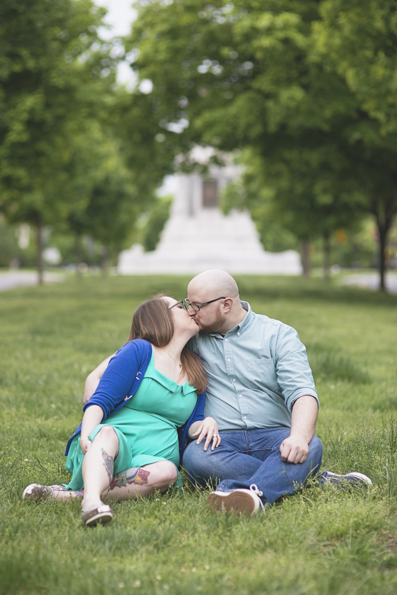 Downtown Urban Engagement Session | Monument Avenue Richmond Engagement Session
